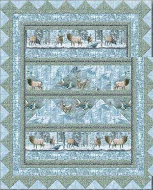 Whispering Winter Throw Quilt Kit, Wilmington Prints