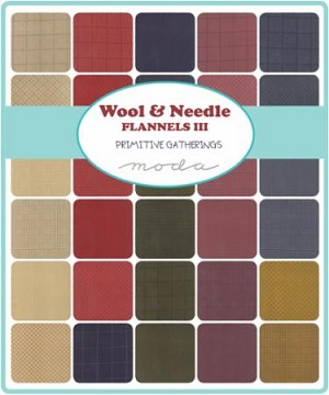 Wool and Needle III Flannel Layer Cake, Primitive Gatherings by Moda