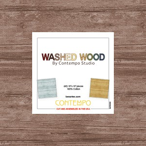 Washed Wood 10 Inch Layer Cake Squares, Contempo by Benartex